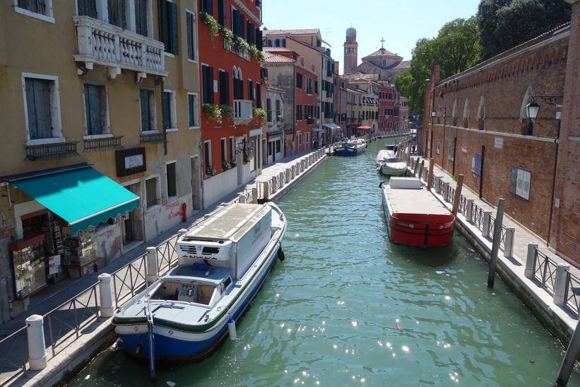 Kanalen Rio de la Cazziola e de Ca' Rizzi, Venedig.