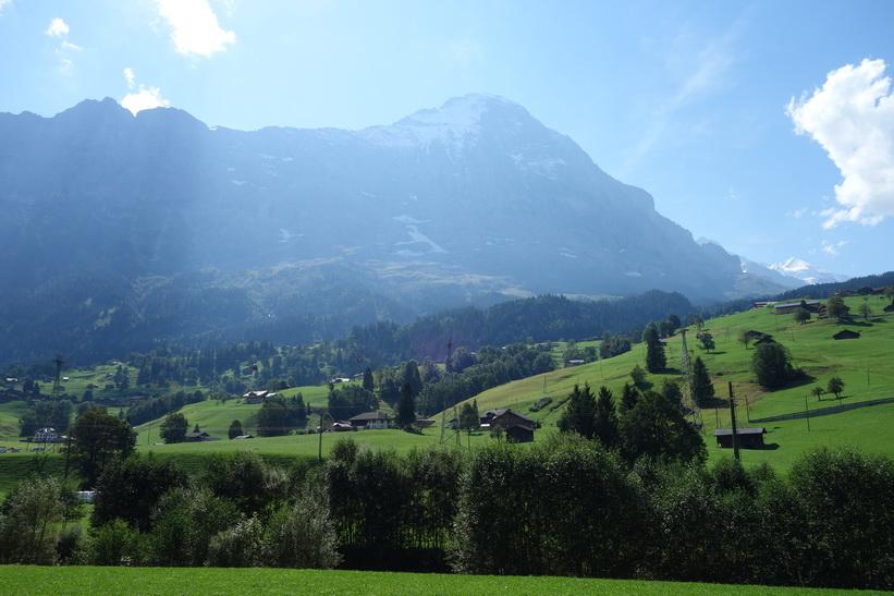 Eiger sedd från Grindelwald.