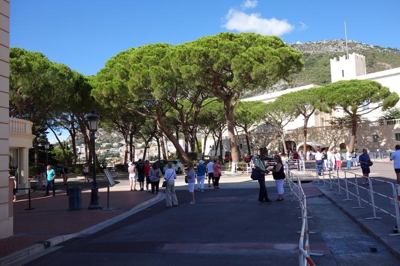 Området vid prinspalatset, Monaco.