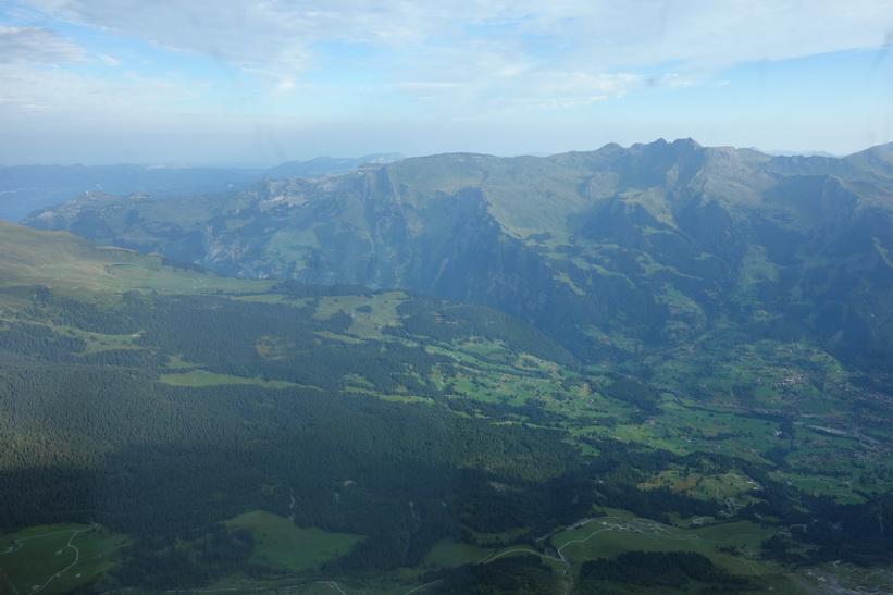 Utsikten från station Eigerwand (2865 m.ö.h.) genom Eigers nordvägg!