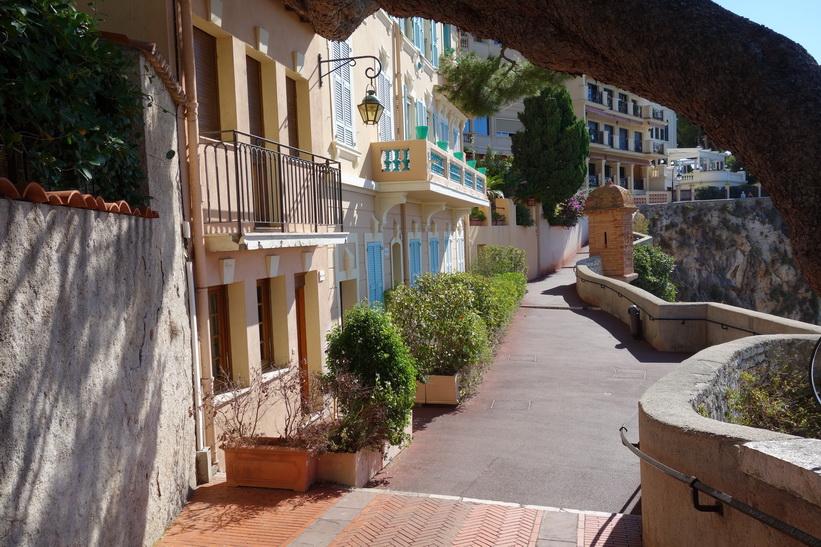 Gågatan Ruelle Sainte Barbe, Monaco.