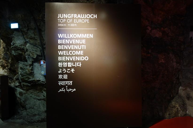 Framme vid Europas högsta tågstation Jungfraujoch (3454 m.ö.h.).