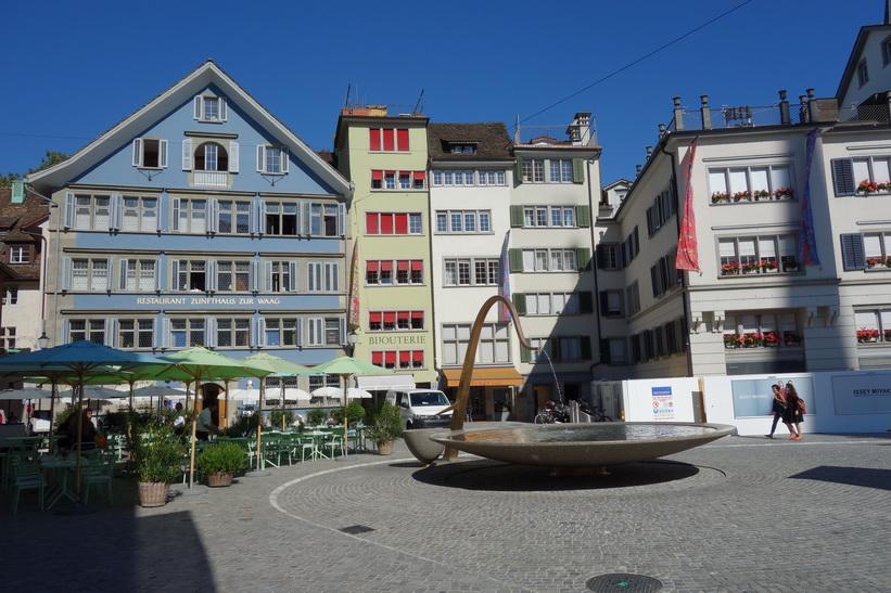 Münsterhof i gamla staden, Zürich.