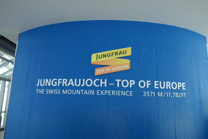 Uppe på Sphinx-terrassen, Jungfraujoch.