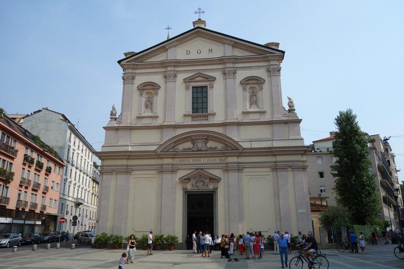 Kyrka i centrala Milano.
