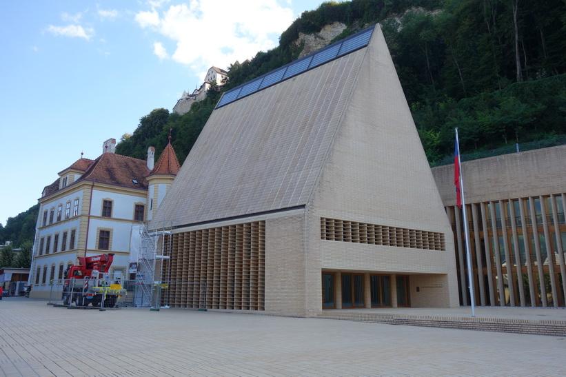 Landtagsgebäude (riksdagshuset), Vaduz.