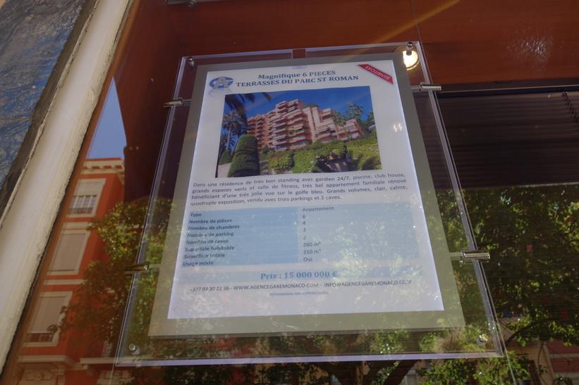 Sex lägenheter till salu för 150 miljoner kronor, Monaco.