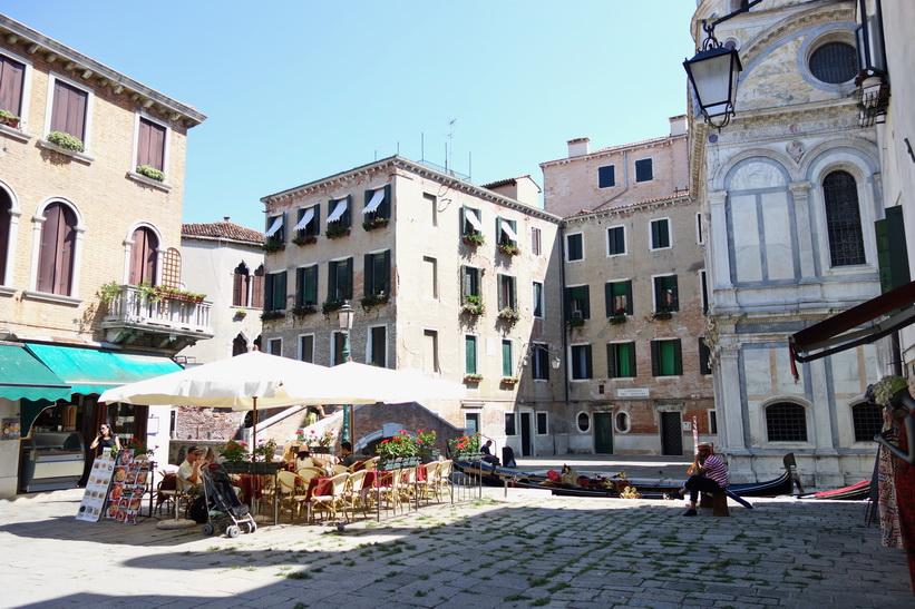 Torg med vacker arkitektur, Venedig.