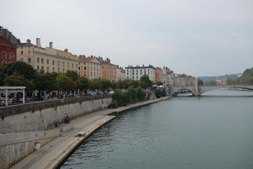 Floden Saône och gamla staden, Lyon.
