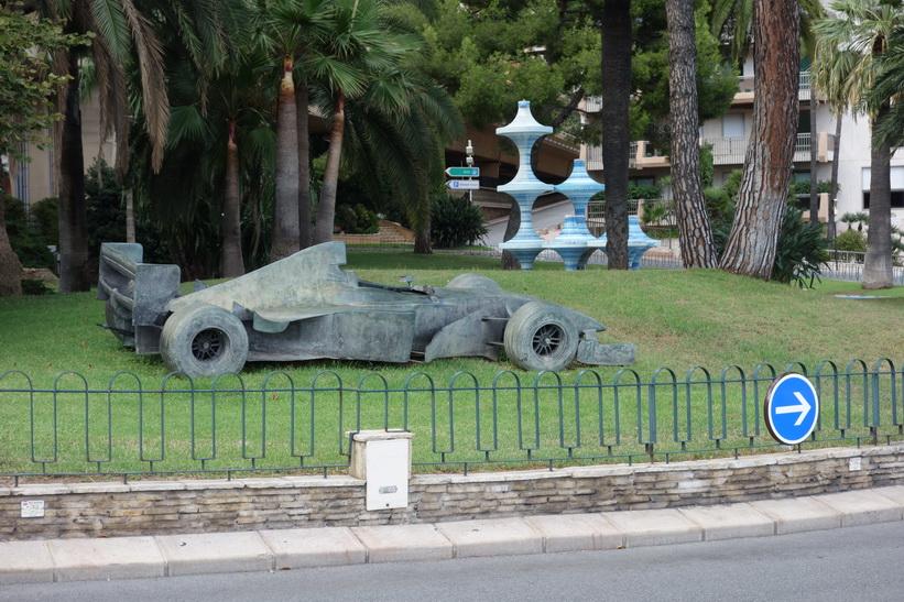 Park med F1-bil i Monaco.