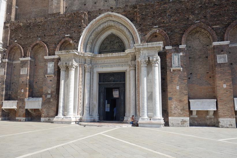Del av Basilica dei Santi Giovanni e Paolo, Venedig.