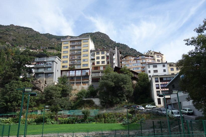 Bostadshus i centrala Andorra la Vella.