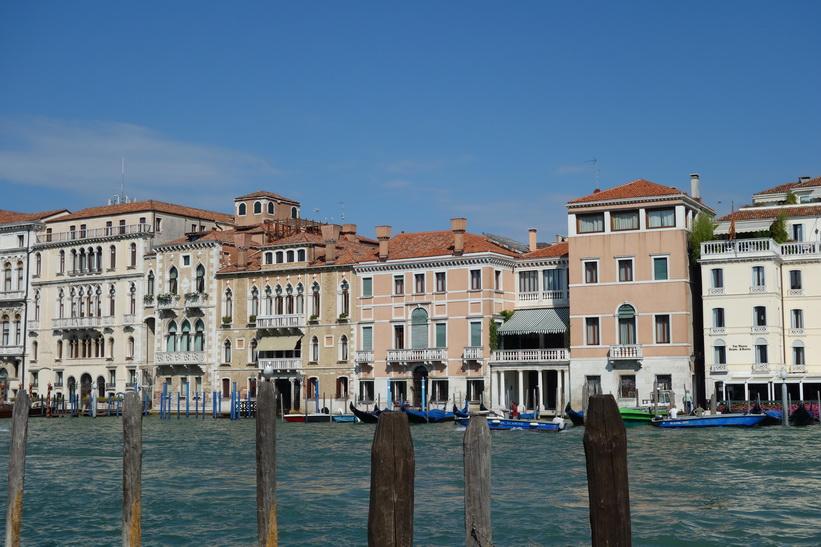 Utsikt från Fondamenta Salute över Grand Canale, Venedig.