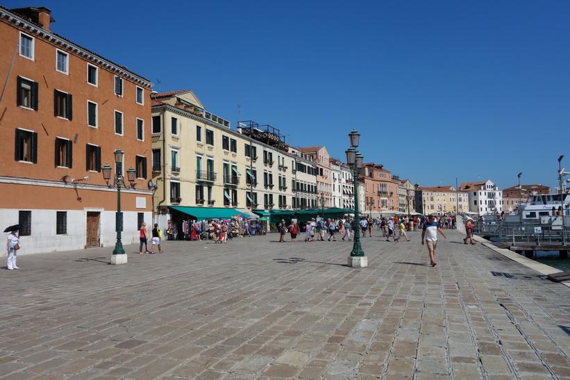 Arkitekturen längs Riva degli Schiavoni, Venedig.