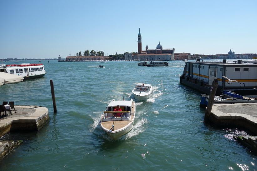 Inloppet till kanalen Rio del Greci, Venedig.