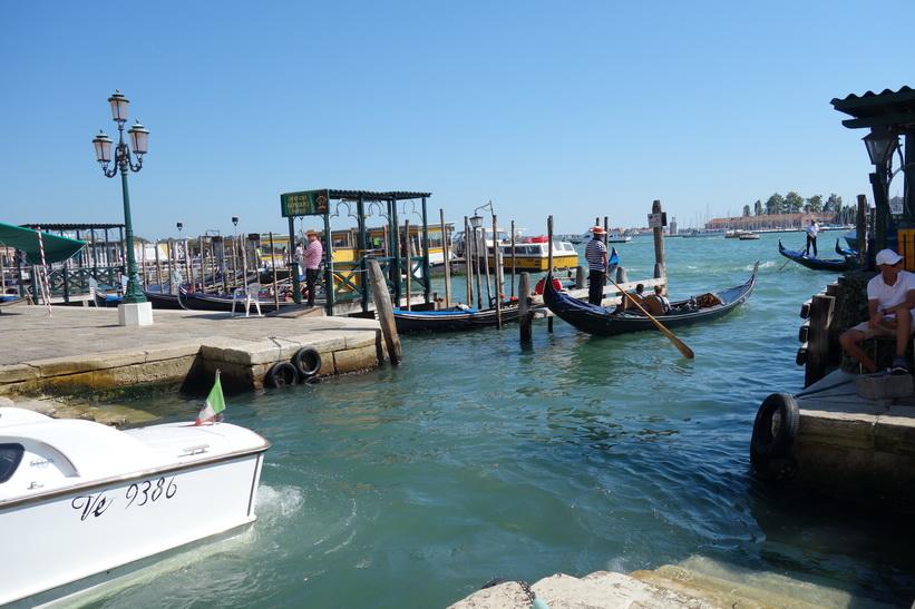Inloppet till kanalen Rio del Vin, Venedig.