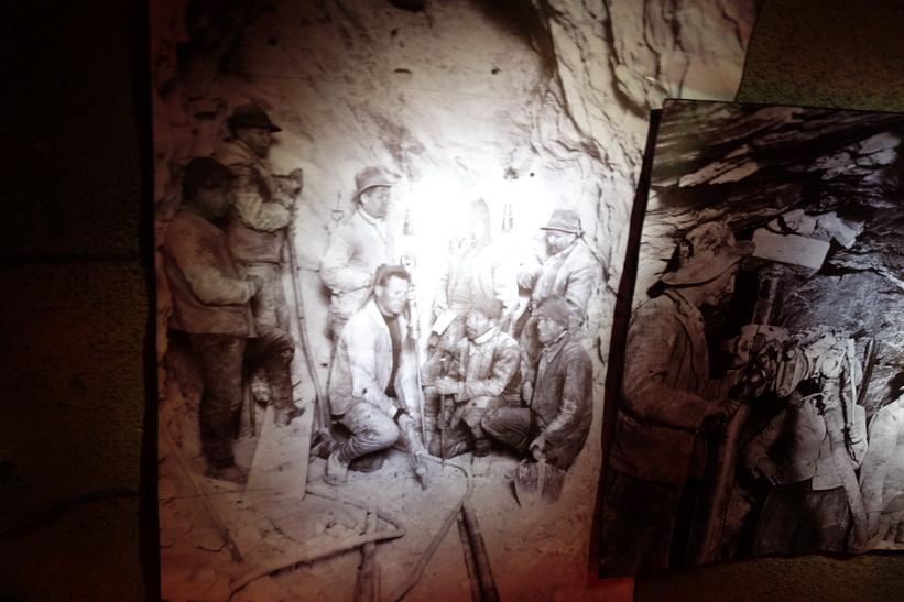 Hyllning till arbetarna som var med och byggde Jungfraubahn, ispalatset Jungfraujoch.