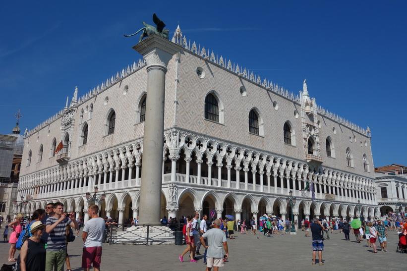 Column San Marco och Palazzo Ducale, Venedig.