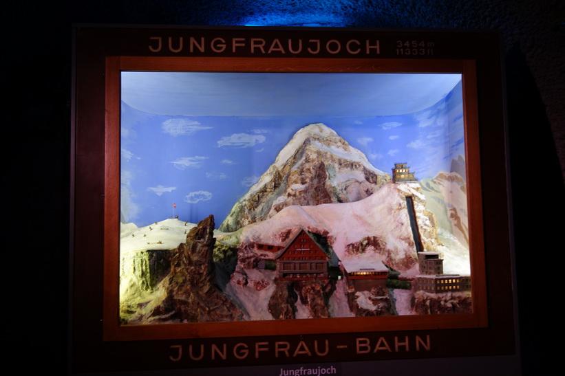 Målning av Jungfraubahn-Jungfraujoch.