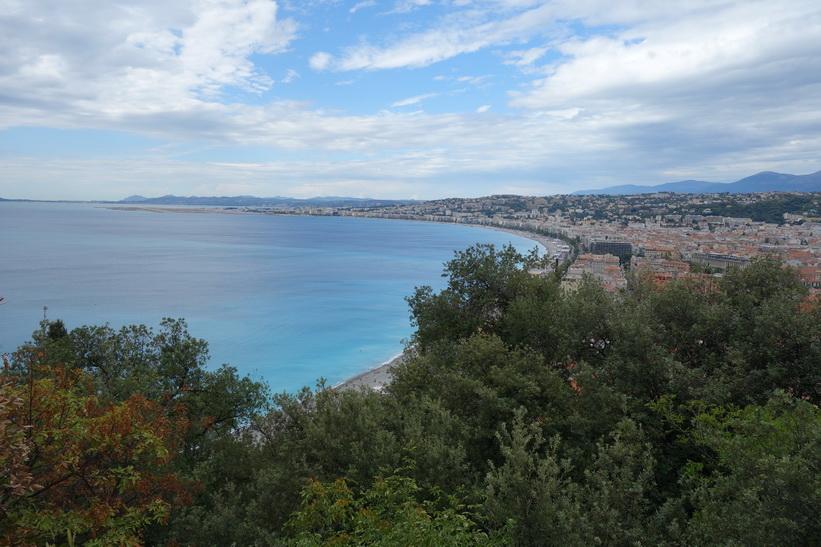 Utsikten över Nice från Castle Hill (Colline du Chateau).