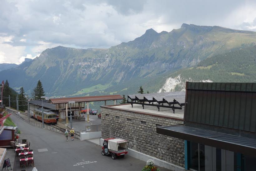 Utsikten från Hotel Eiger, Mürren.