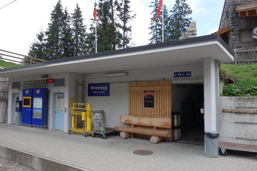 Station Winteregg mellan Grütschalp och Mürren.