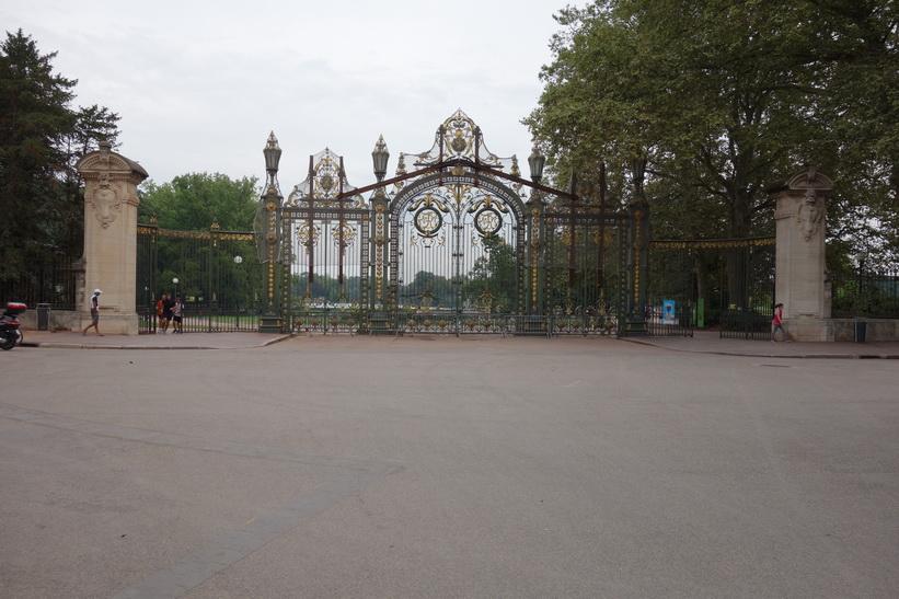 Entré till parken Parc de la Tête d'Or, Lyon.