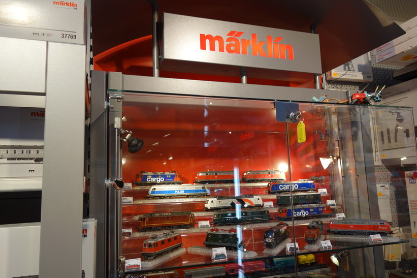 Klassiska tyska leksakstillverkaren Märklin, Vaduz.
