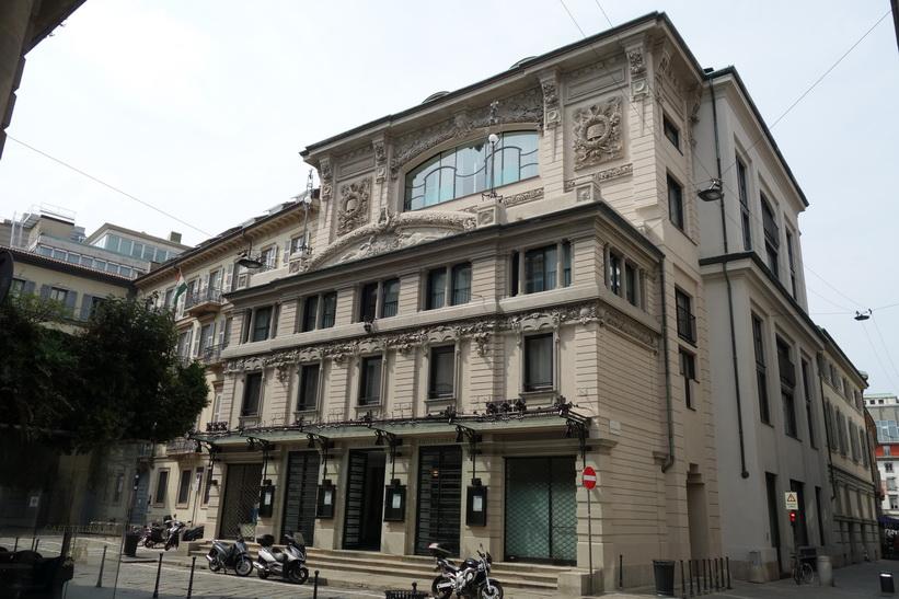 Vacker arkitektur i centrala Milano.goo