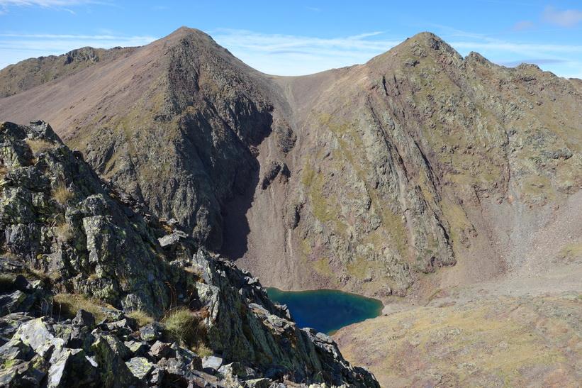 Del av Black Lake. Sista biten upp till Coma Pedrosa.