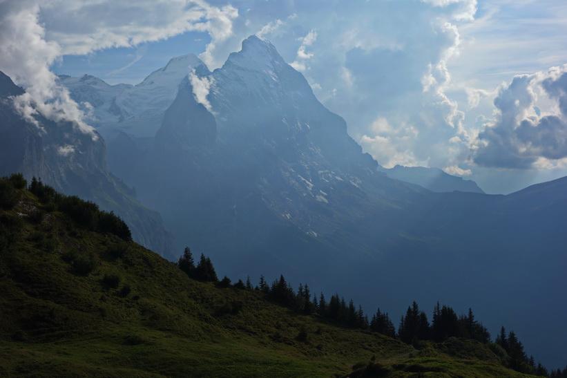 Eiger sedd från Grosse Scheidegg.