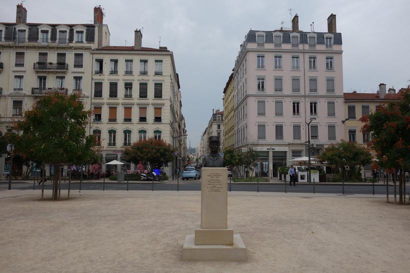 Vacker i arkitektur i centrala Lyon.