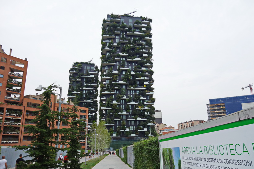 Gröna hyreshus, Milano.