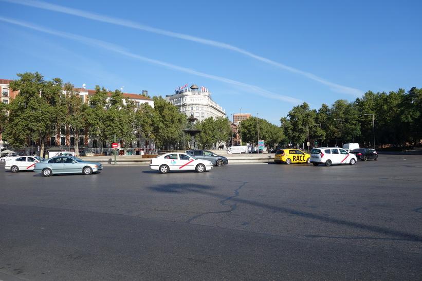 Rondellen vid Atocha-stationen i centrala Madrid.