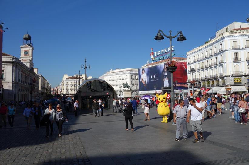 Plaza de la Puerta del Sol, Madrid.