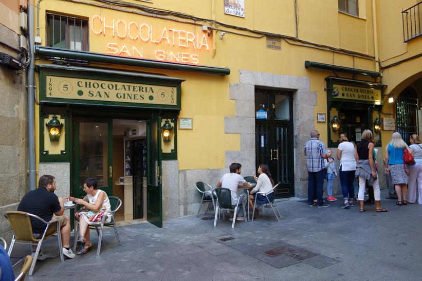 Anrika Chocolatería San Gines, Madrid.