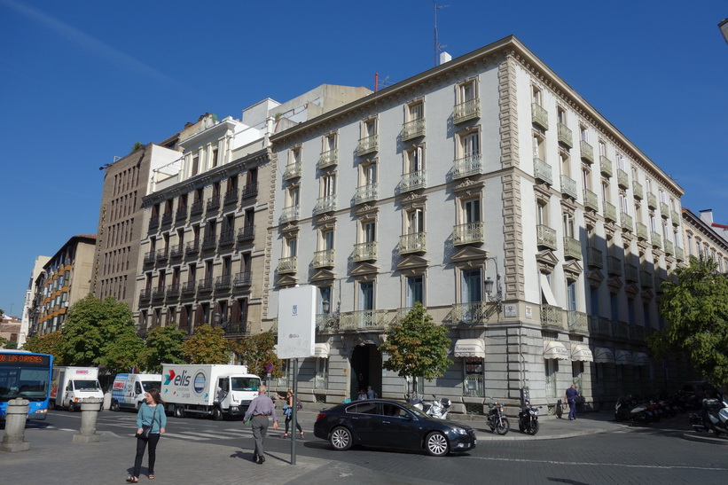Gatuscen i centrala Madrid.