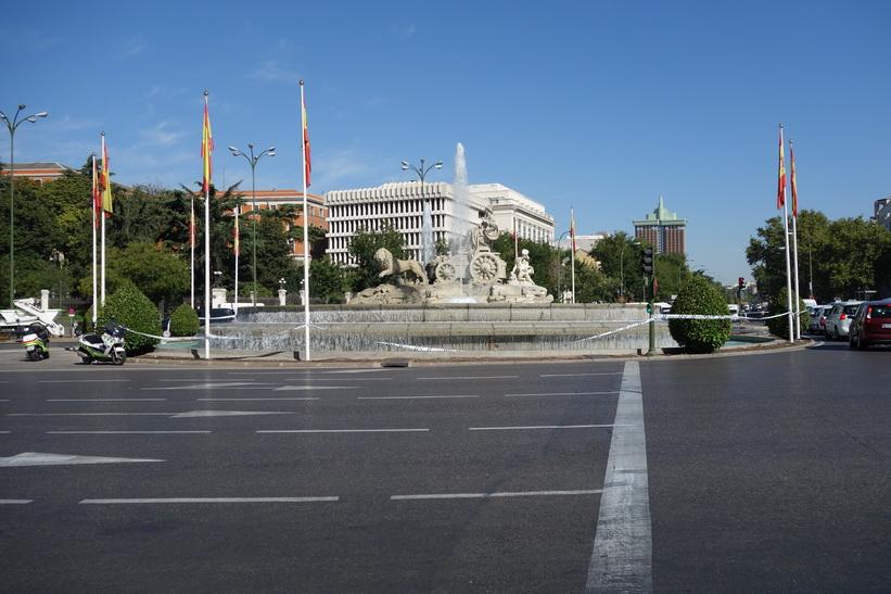 Plaza de Cibeles med fontän, Madrid.