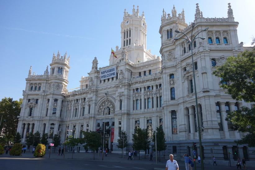 Palacio de Cibeles, Plaza Cibeles, Madrid.