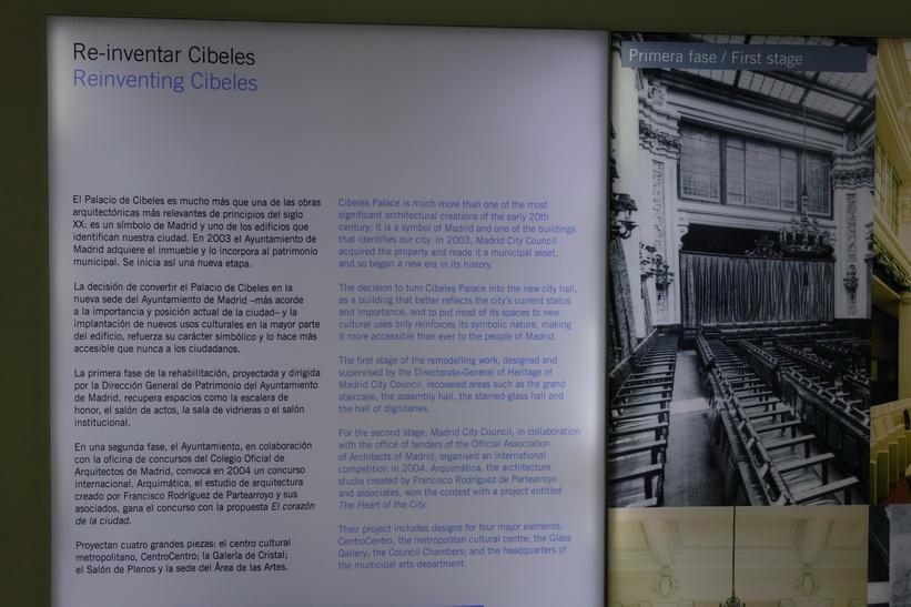 Historien om Palacio de Cibeles, Plaza Cibeles, Madrid.
