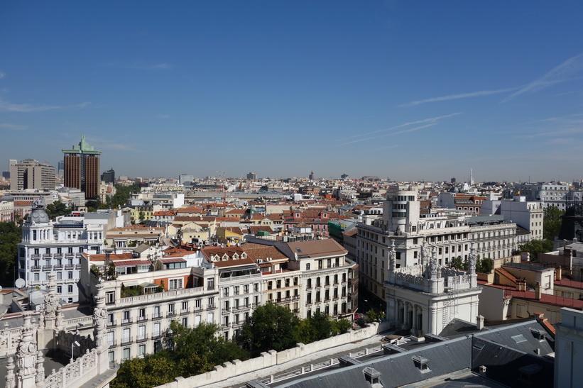 Utsikt från Palacio de Cibeles, Madrid.