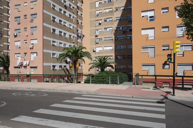 Bostadshus i centrala Zaragoza.