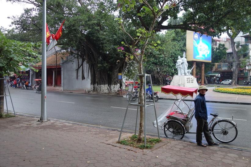 Cykeltaxi i centrala Hanoi.
