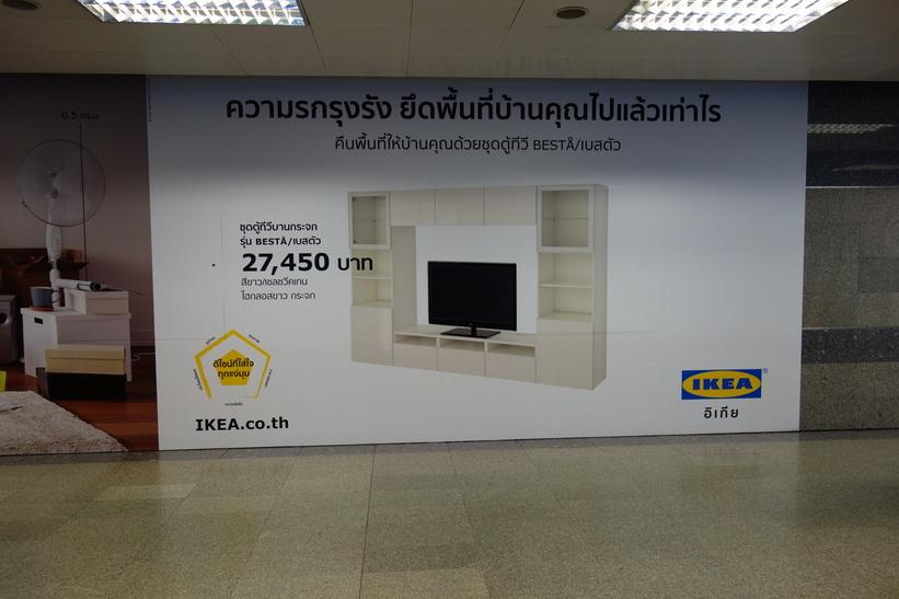 IKEA-reklam i Bangkoks tunnelbana.