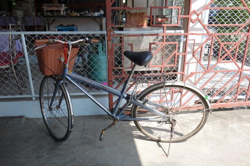 Cykeln jag hyrde för cykelturen i Bang Kachao, Bangkok.