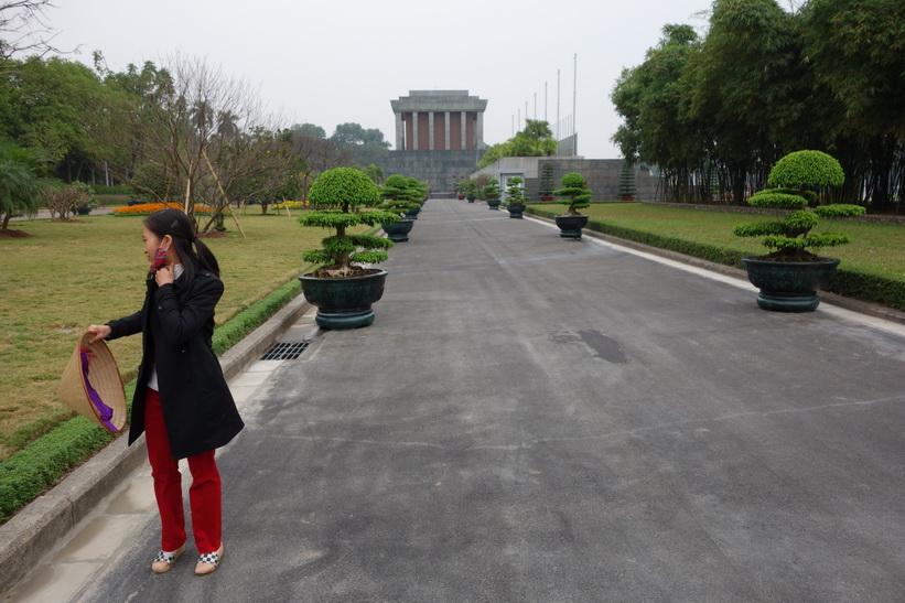 Baksidan av Ho Chi Minh-mausoleet, Hanoi.