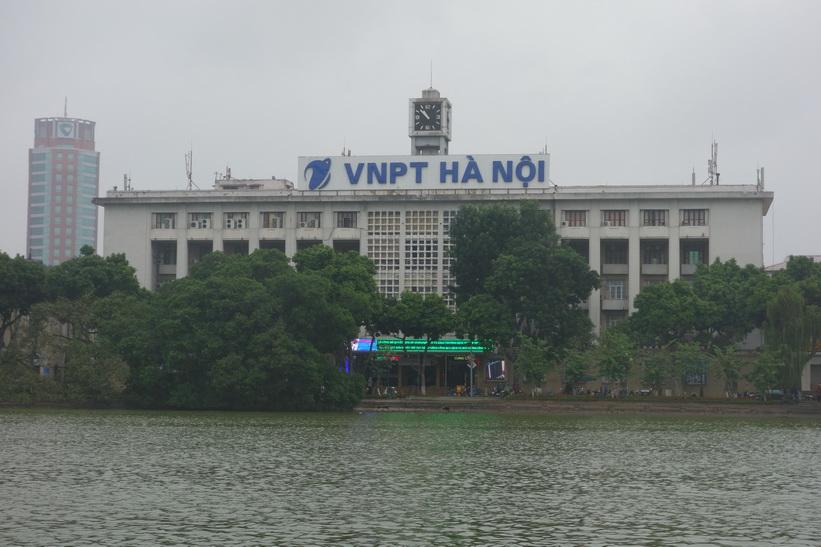 Postkontoret i Hanoi är inte lika vackert som det i HCMC, men ändå speciellt och intressant.