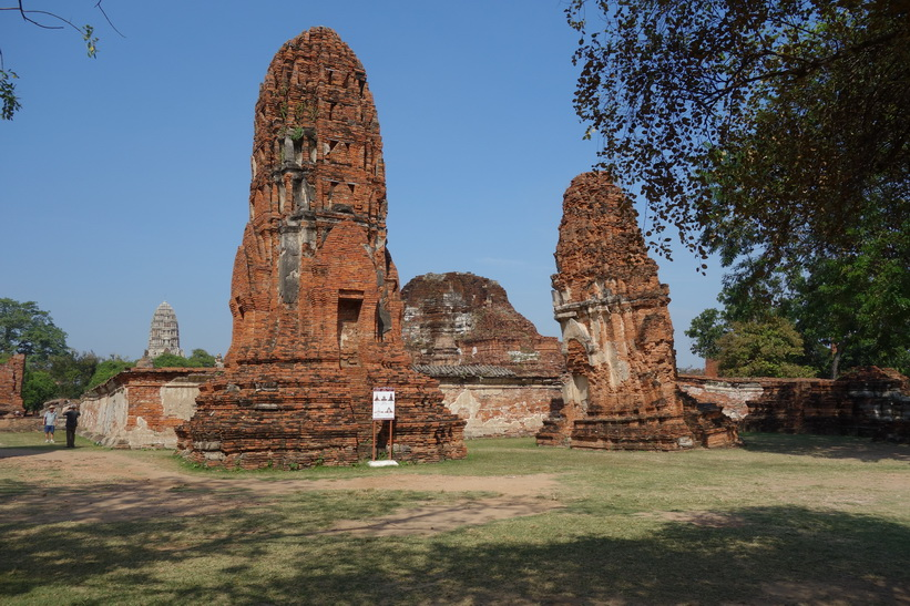 Historiska parken i Ayutthaya.
