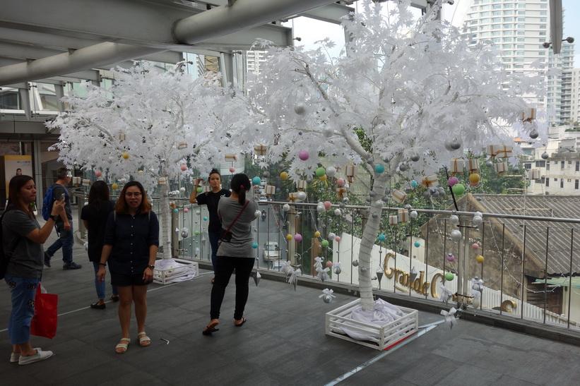 Julsmyckning utanför Terminal 21, Bangkok.