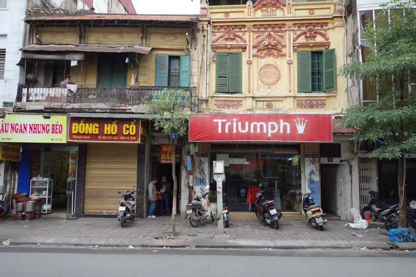 Vacker arkitektur i centrala Hanoi.